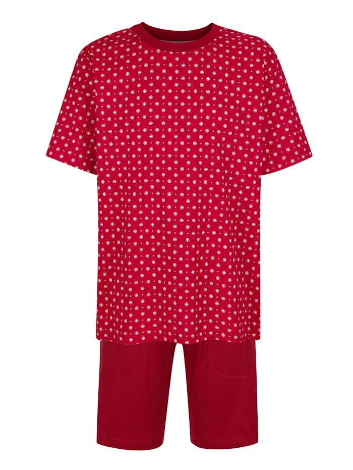 BABISTA Pyjashort en coton mercerisé, Rubis