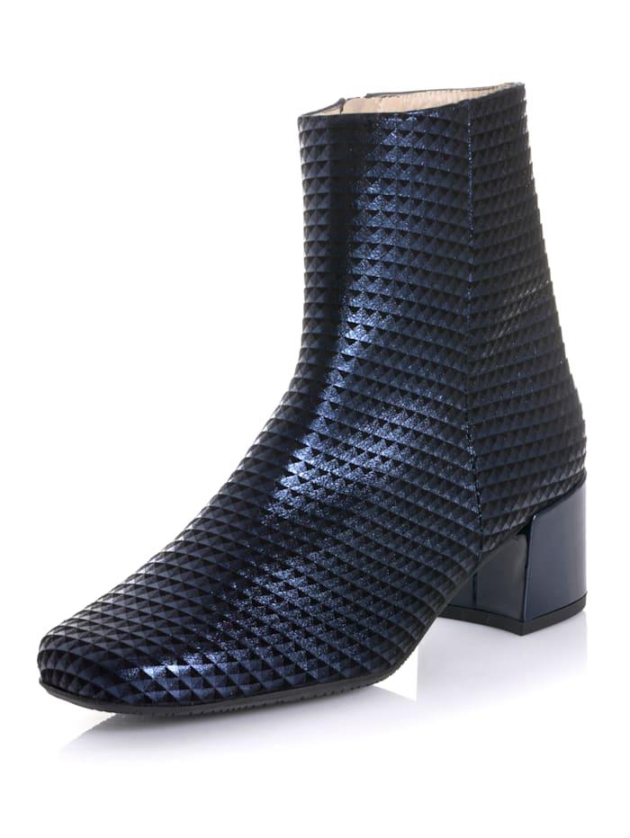 Alba Moda Stiefelette mit dezentem 3D Muster, Marineblau