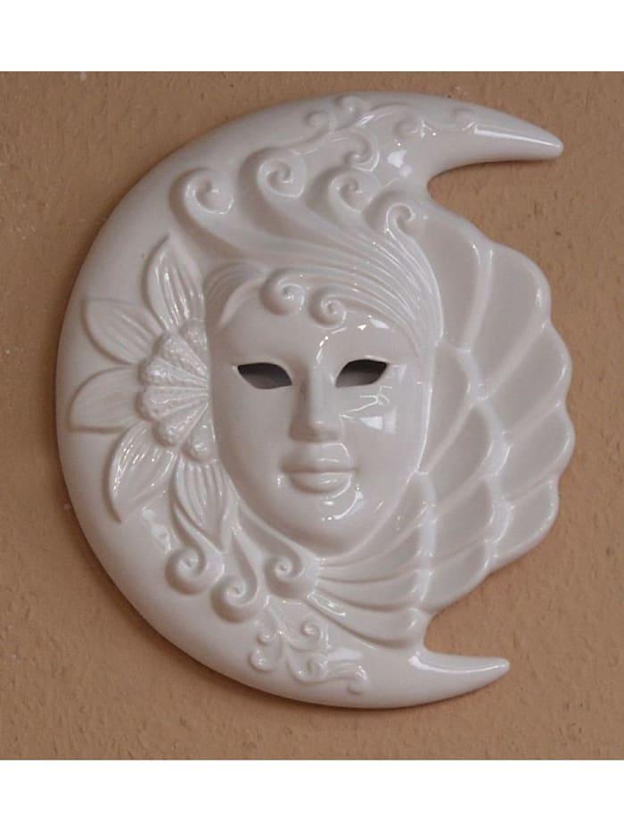 """Möbel-Direkt-Online Wanddekoration """"Venezianische Maske"""", weiß"""