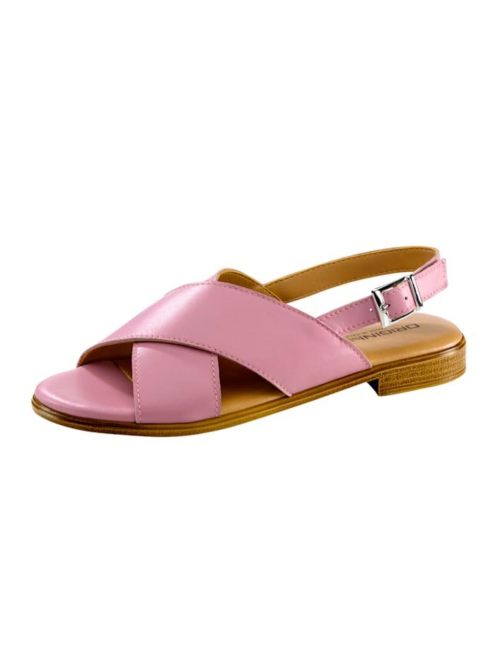 Sandale mit schöner Kreuzbandage, Altrosa