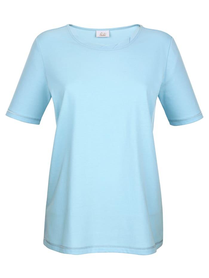 Shirt in feflochtener Optic am Rundhals