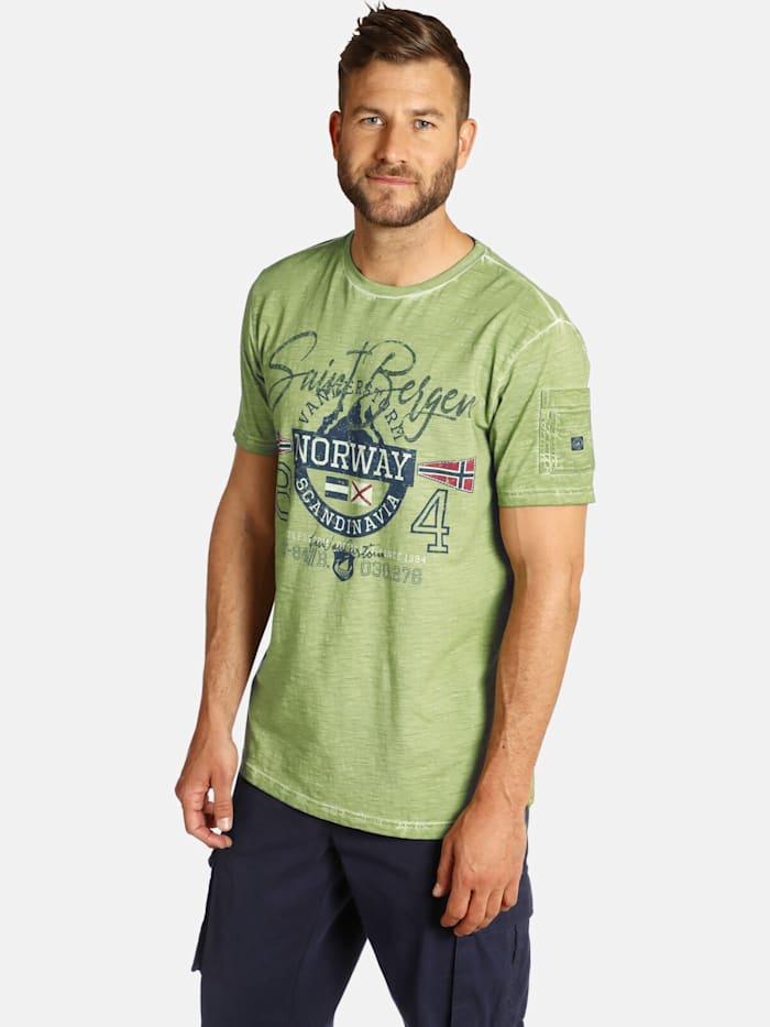 Jan Vanderstorm Jan Vanderstorm T-Shirt HELGO, oliv
