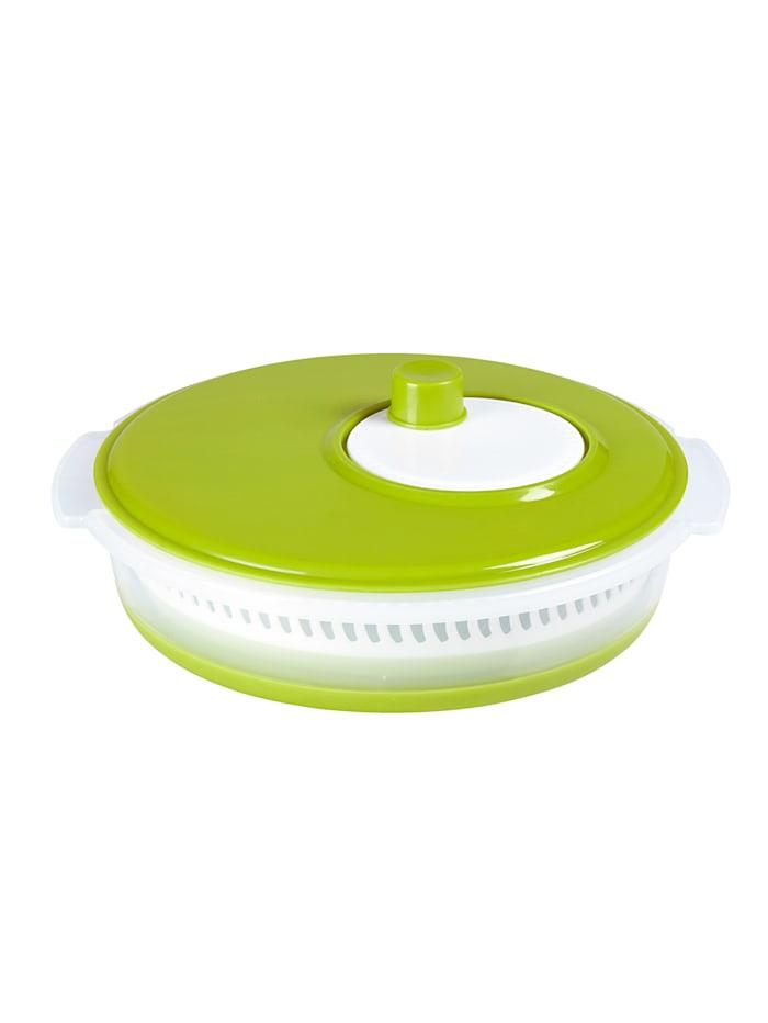 Platzspar-Salatschleuder faltbar