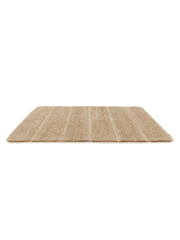 Badteppich Steps Sand, 60 x 90 cm, Mikrofaser