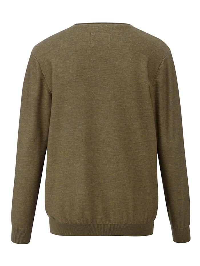 Pullover in leichter Melangé-Optik