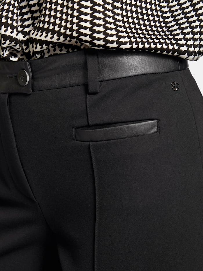 Hose DIANA aus unifarbenem Jersey-Stoff mit Ziernähten