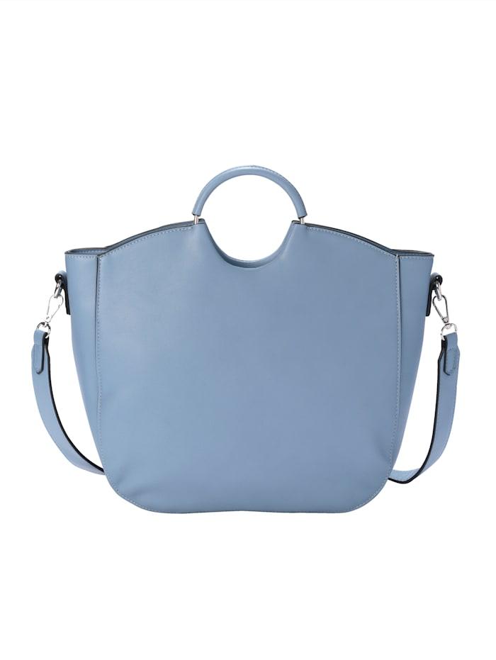 Handväska med dekorativt flätmönster