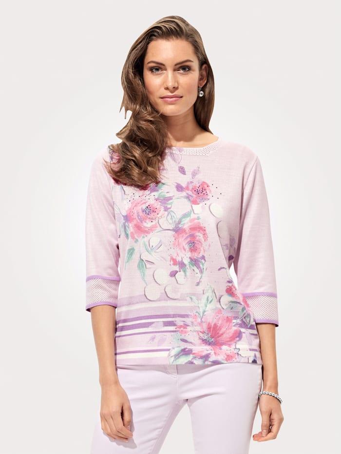 DiStrick Pullover mit Strasssteinchen-Zier, Rosé