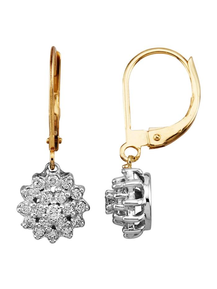 Diemer Diamant Ohrringe mit Brillanten, Weiß