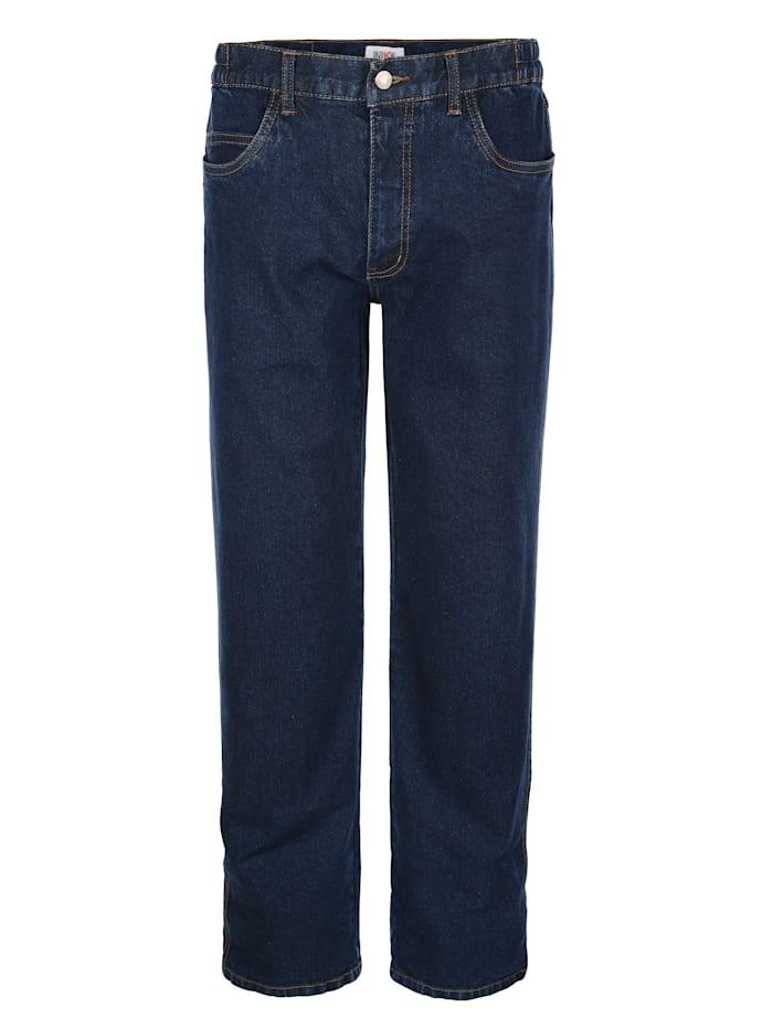 Roger Kent Jeans mit seitlichem Dehnbund, Dark blue