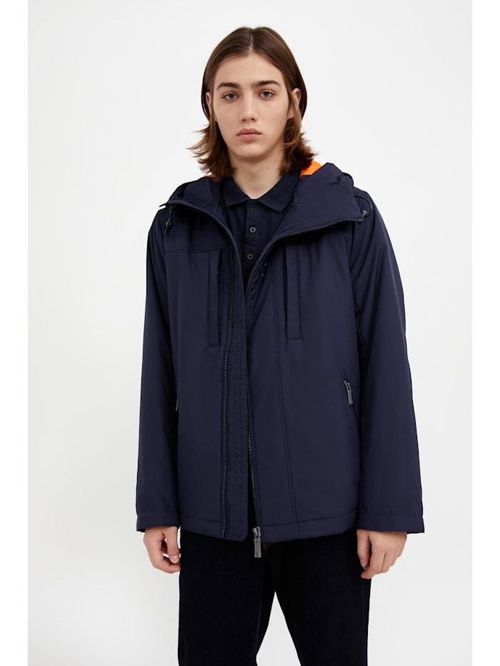 Finn Flare Kurze Jacke mit seitlichem Reißverschluss, dark blue