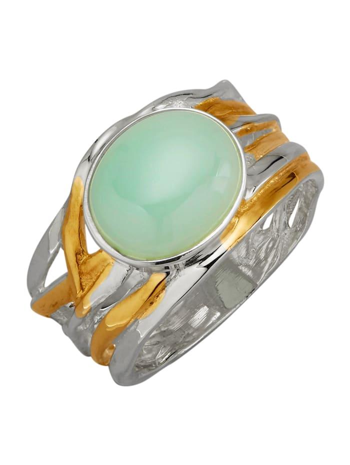 Diemer Farbstein Damesring met 1 opaal-cabochon, Groen