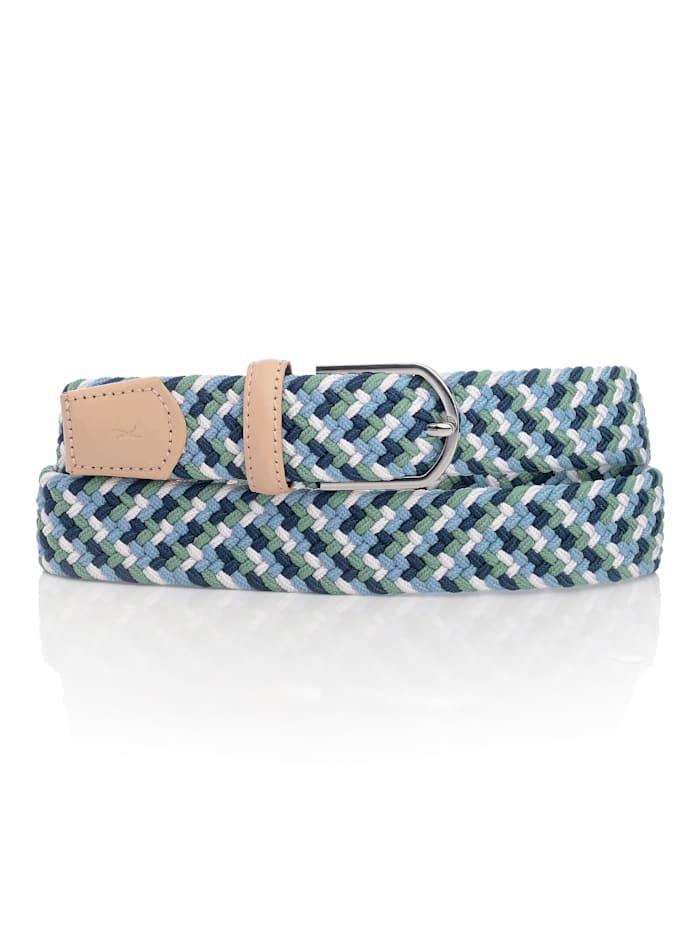 BRAX Gürtel in harmonischen Farben, Blau/weiß