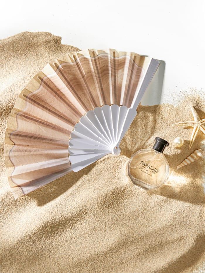 Fan with a shell pattern