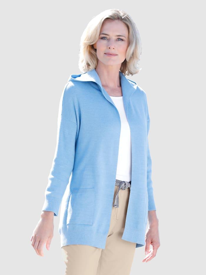 Dress In Strickjacke in offener Form, Blau