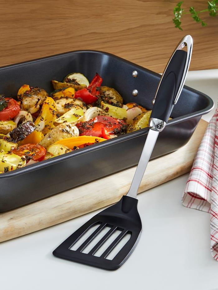 Plat de cuisson 40 x 28,5 x 7 cm avec spatule
