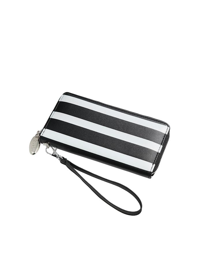 Goebel Goebel Portmonnaie Stripes, schwarz-weiß