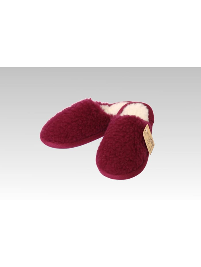 Linke Licardo Pantoffeln Hausschuhe Wolle bordeaux, bordeaux