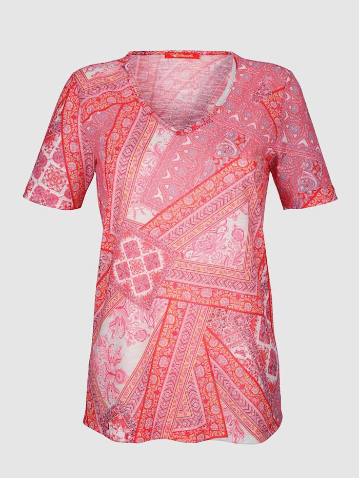 Shirt met paisleyprint