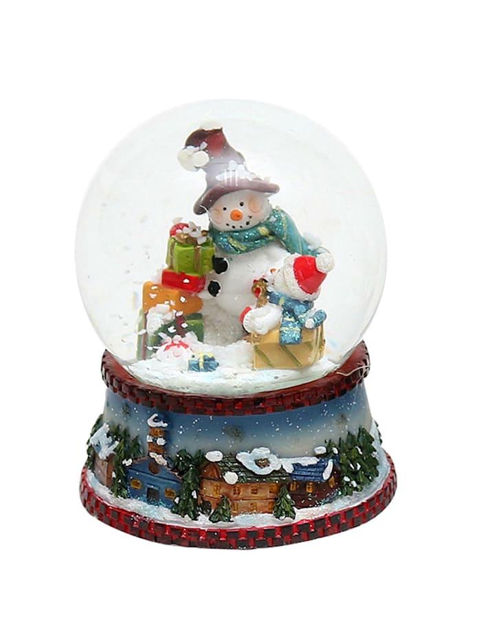 Schneekugel Schneemann mit Schal