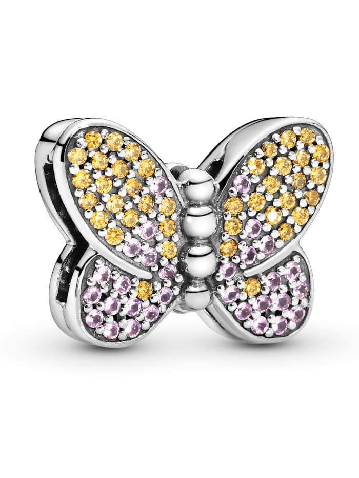 Pandora Clip-Charm - Pavé Schmetterling - Pandora Reflexions 797864CZM, Silberfarben