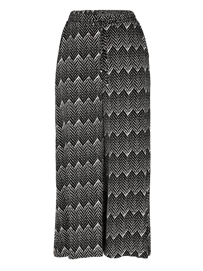 Jupe-culotte à motif graphique