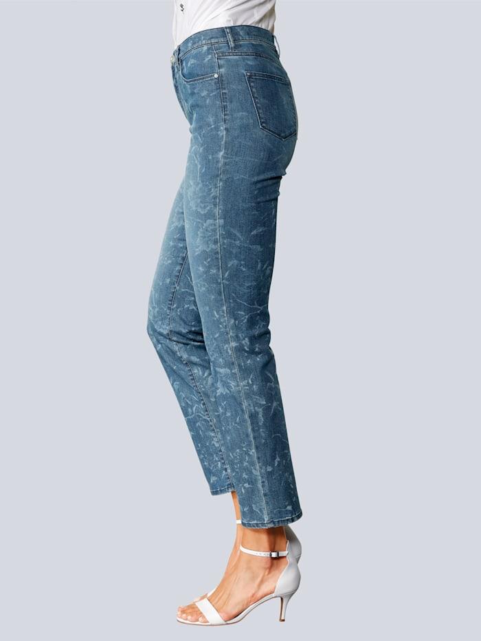 BRAX Jeans 'Carola' im angesagten Blumendruck, Blau