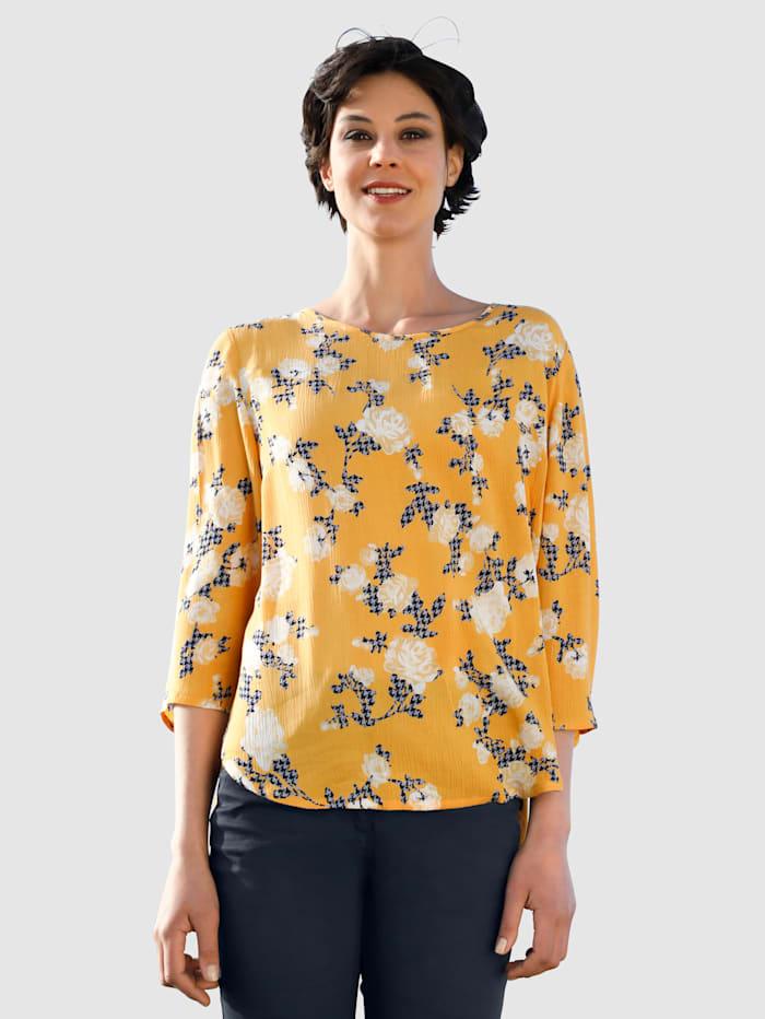 Dress In Blúzka s kvetinovou potlačou, Žltá