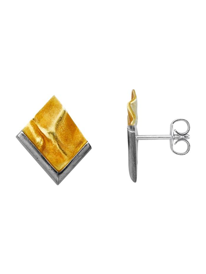 Diemer Trend Oorstekers van verguld zilver, Geelgoudkleur