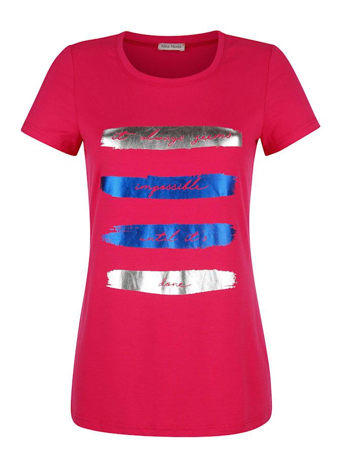 Strandshirt mit glänzendem Druck