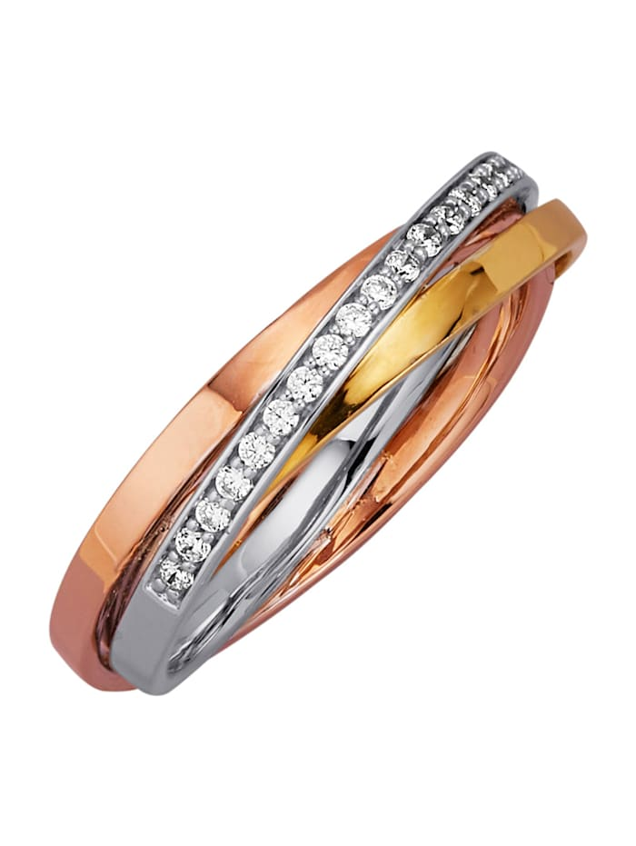 Diemer Diamant Damenring mit Brillanten, Multicolor
