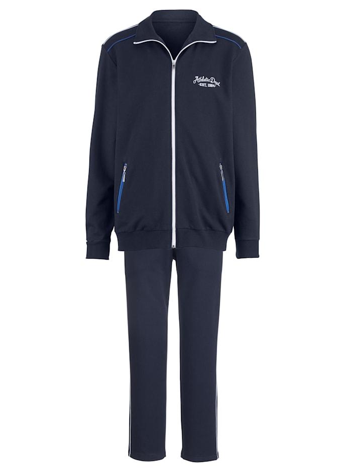 G Gregory Freizeitanzug mit Reißverschlusstaschen, Marineblau/Royalblau/Weiß