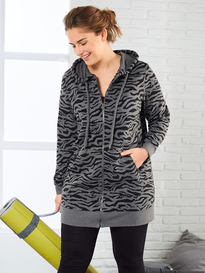 Sweatjacke mit Animalprint