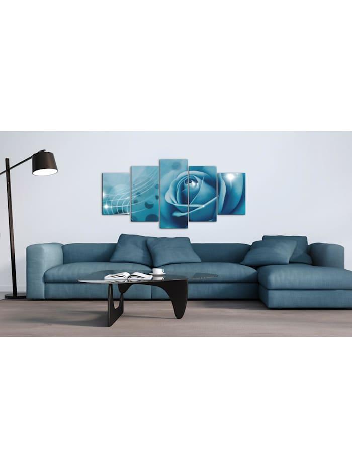 Wandbild Blaue Schönheit