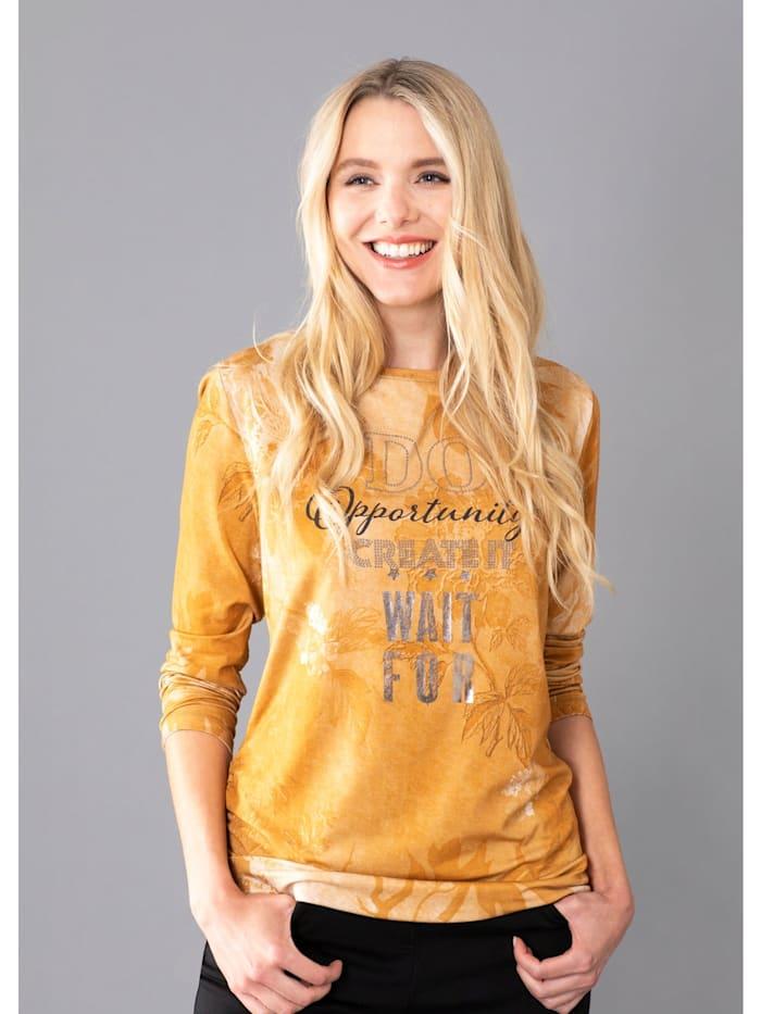 Hajo Shirt im Washout Look, Zimt