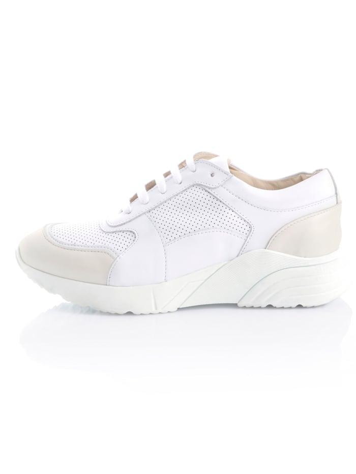 Sneakers av mjukt skinn