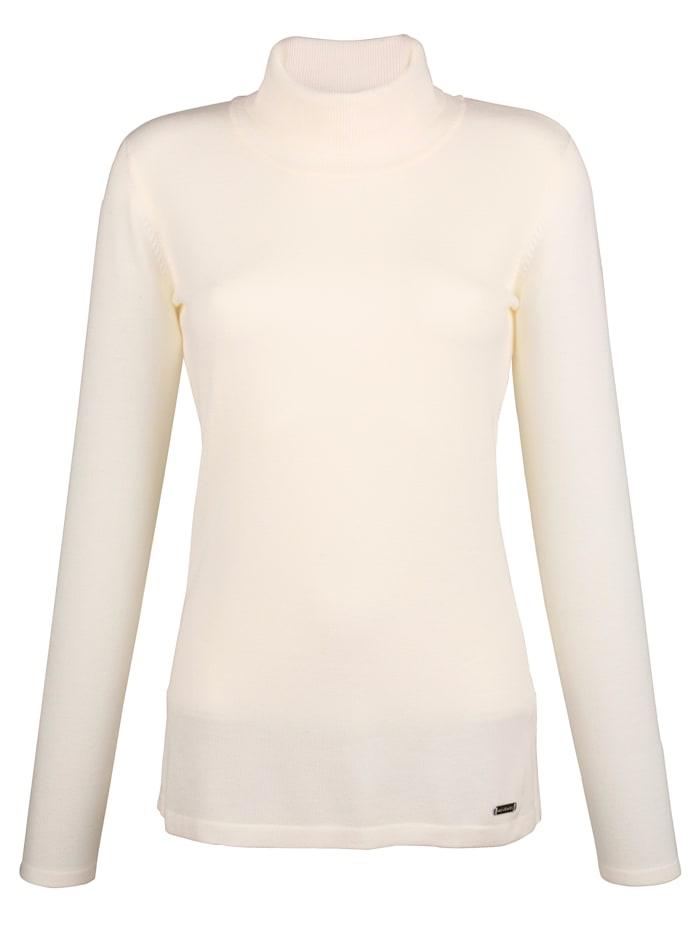 AMY VERMONT Rollkragenpullover in taillierter Form, Off-white