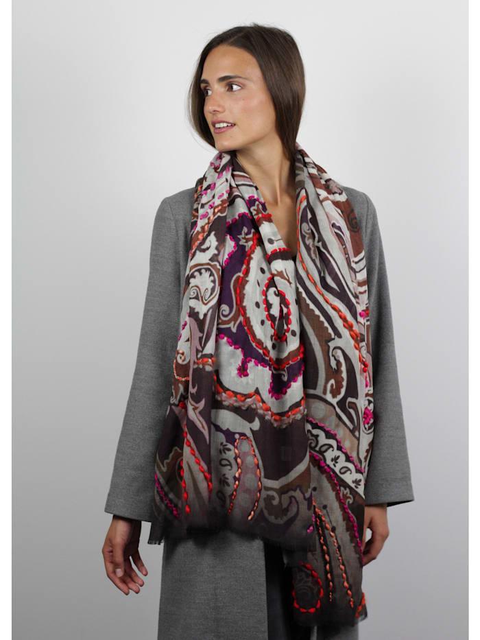 Premium Paisley-Schal aus Wolle