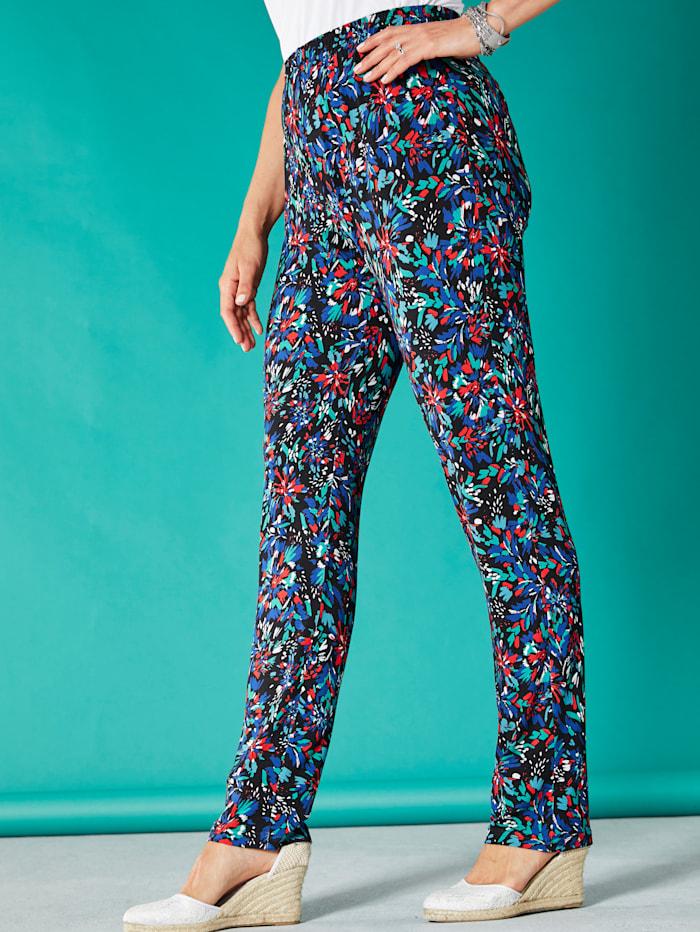 MIAMODA Pantalon à motif graphique, Multicolore