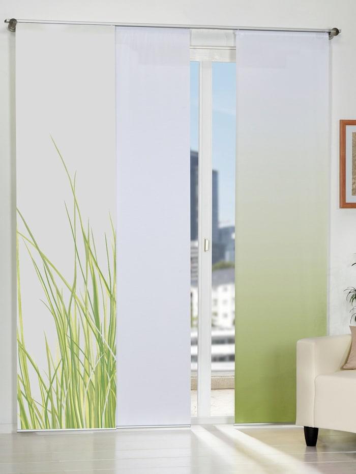 Home Wohnideen Panneau japonais 'NIZZA', Vert