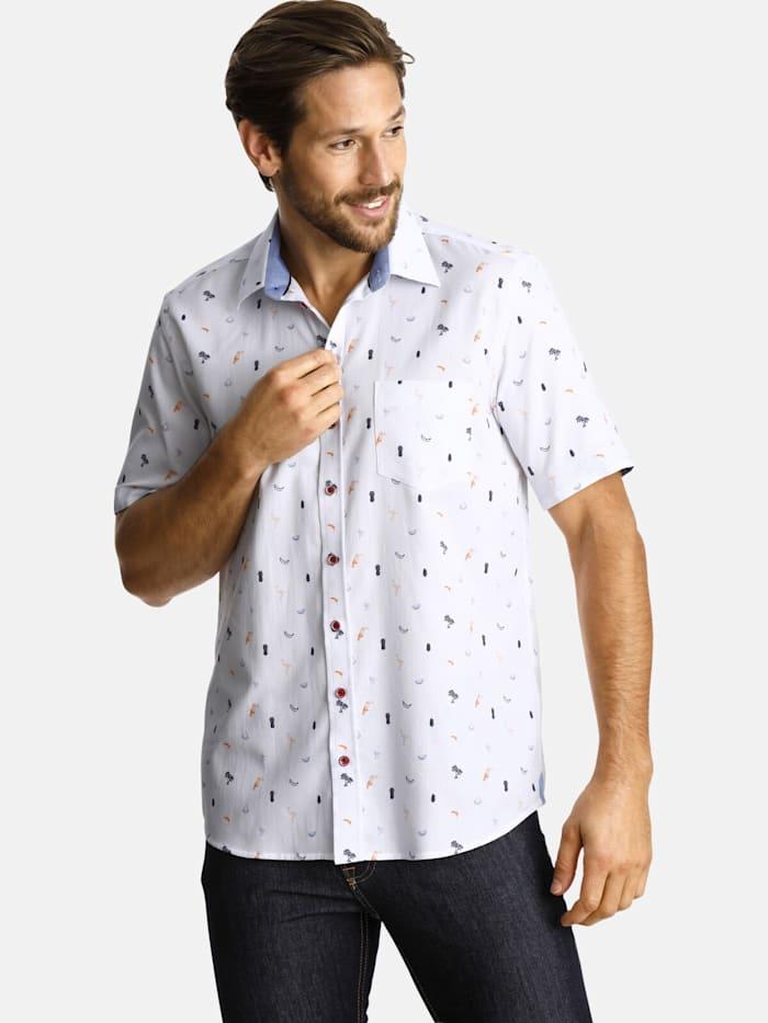 Shirtmaster Shirtmaster Kurzarmhemd cocktailinspiration, weiß