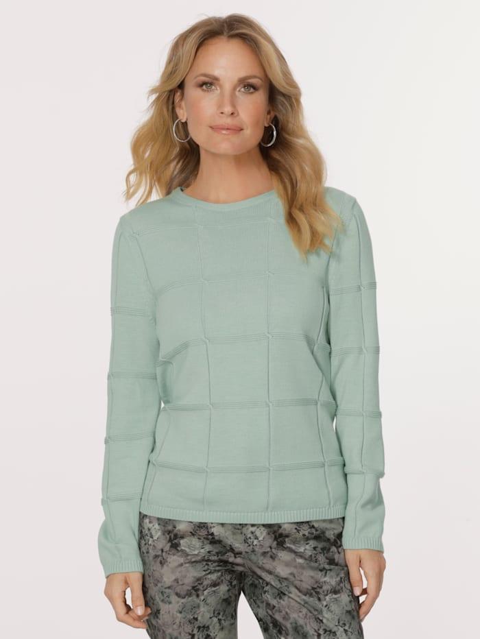 MONA Pullover aus reiner Baumwolle, Mintgrün