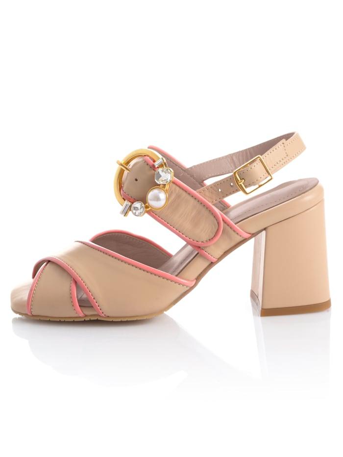 Sandalette in harmonischer Zweifarbigkeit