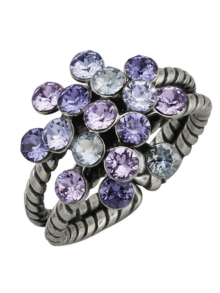 Konplott Damenring mit Kristallen 540543754772, Lila