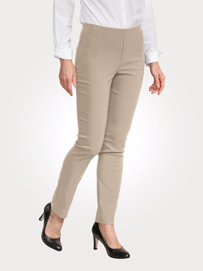 MONA Pantalon facile à enfiler à jambe ajustée, Beige