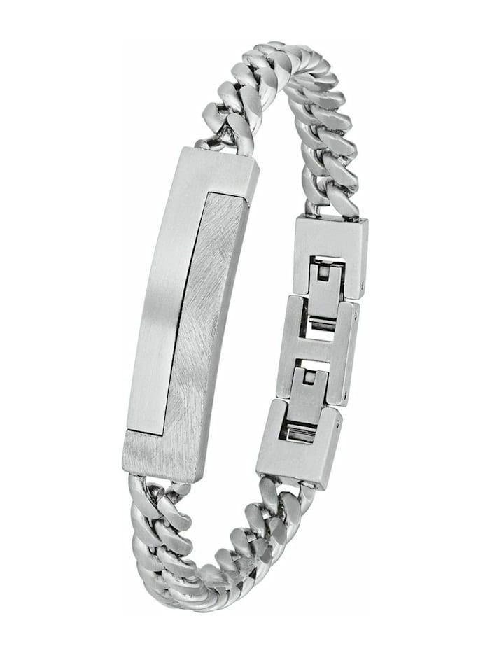 s.Oliver Armkette für Herren, Edelstahl, Silber