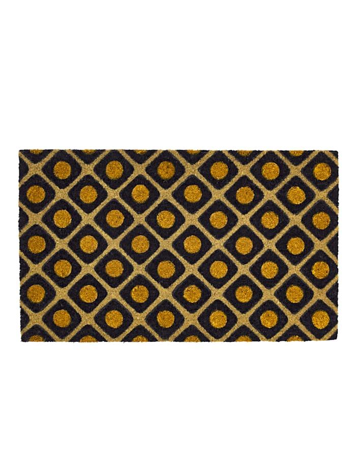 IMPRESSIONEN living Fußmatte, schwarz/goldfarben