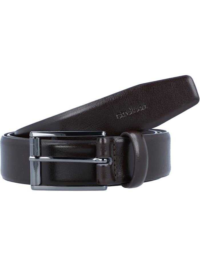 Strellson Premium Gürtel Leder, darkbrown