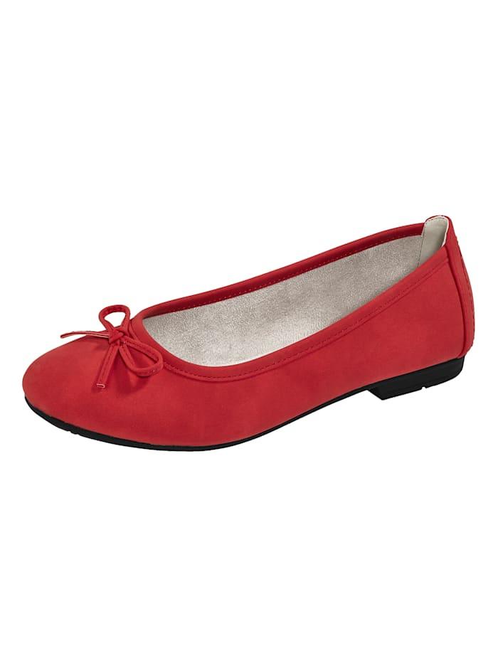 Liva Loop Ballerina mit dezenter Zierschleife, Rot