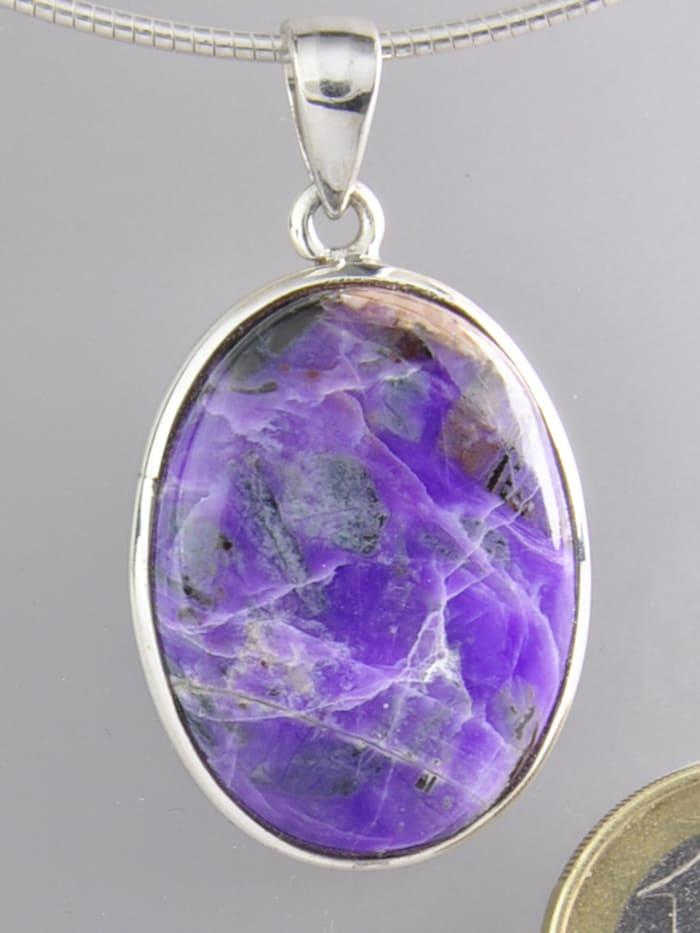 1001 Diamonds Damen Schmuck Edelstein Sugilit Anhänger 925 Silber violett, violett
